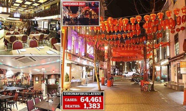 Коронавирус распугал обитателей Лондона из китайского квартала(31фото)